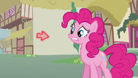Arrow about to touch Pinkie S3E5