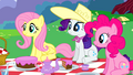 Fluttershy Rarity Pinkie Pie listening S2E25.png