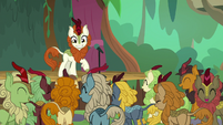 Kirin laugh at Autumn Blaze's comedy S8E23