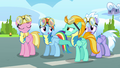 Lightning and Rainbow doing a hoofbump S3E07.png
