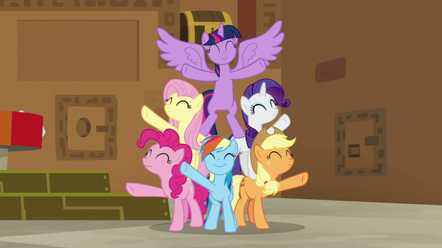 File:Mane Six finish singing Best Friends Until the End of Time S7E2.png