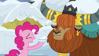 Pinkie Pie and Prince Rutherford in agreement S7E11