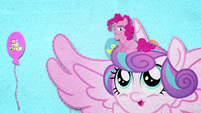 Pinkie Pie sitting on Flurry Heart's head BFHHS2