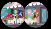 RD, Twi, Fluttershy, and Sunset shop together EGDS40