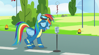 Rainbow Dash finishes her introduction S7E7