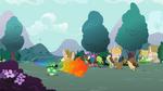 Rainbow Dash flaming trail S2E07