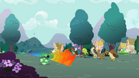 Rainbow Dash flaming trail S2E07