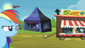 Rainbow Dash looks toward burger stand S4E22.png
