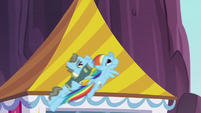 Rainbow and Wind Rider flying together S5E15