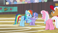 Rainbow nudging Wind with her elbow S9E6