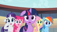 Rarity, Pinkie, Twilight, Fluttershy, Rainbow - you kidding-.S02E14