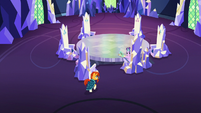 Sunburst joins Starlight in the throne room S7E24