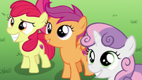 The Cutie Mark Crusaders smiling S6E4