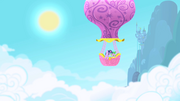 Twilight Sparkle and Spike in balloon S1 Opening