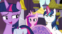 Twilight recalling the Pony Island incident S7E22