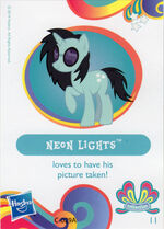 Wave 11 Neon Lights collector card