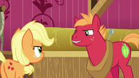 Young Big McIntosh arguing with Applejack S6E23