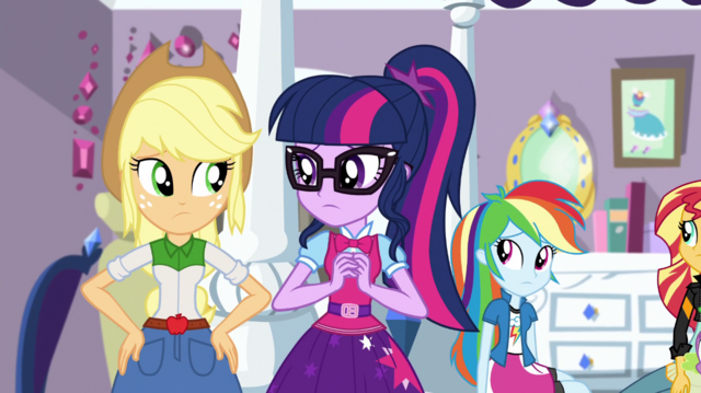 File:Applejack and Twilight look at each other EGS1.png