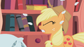 Applejack gets hit by a pillow S1E08.png
