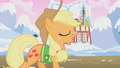 Applejack singing Winter Wrap Up song S1E11.png