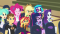 CHS students cheering for Fluttershy CYOE2a.png