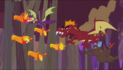 Dragons chasing baby phoenixes S2E21
