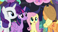 Fluttershy -do we walk back up the slide or... or what-- S5E11