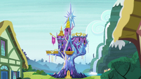 Friendship Rainbow Kingdom castle exterior midday S5E3