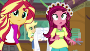 Gloriosa Daisy and Sunset Shimmer hear Sandalwood EG4
