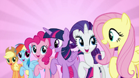 "Mane Six singing ""we're a work in progress"" S7E14"