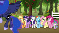 Mane Six watch the princesses laugh S9E13