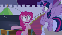 "Pinkie Pie answers nervously ""yes!"" S9E17"