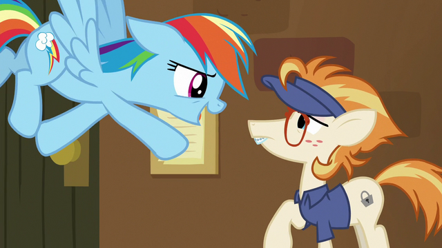 "File:Rainbow Dash ""get your quill ready, bub!"" S7E2.png"