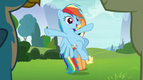 Rainbow appears before the Young Six S8E9
