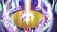 Rainbow shoots up from the floor S4E26
