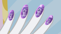 Rarity's reflection in her nails EG