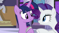 "Rarity ""how are you feeling"" S9E17"