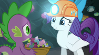 Rarity touches her mane S6E5