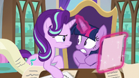 Twilight startled by Starlight's yelling S9E1
