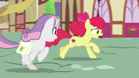 "Apple Bloom ""if we're going to make the train"" S9E22"