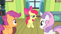 "Apple Bloom ""to some incredibly hard-to-reach town"" S4E17"