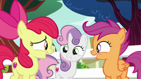 "Apple Bloom ""wanted to go to Twilight's school"" S8E12"