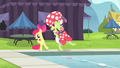 Apple Bloom and Granny Smith stretching 2 S4E20.png