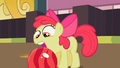 Apple Bloom opens her mouth to try to grab the bowling ball S2E06.png