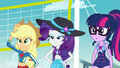 Applejack, Rarity, and Twilight still skeptical EGFF.png