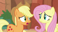 "Applejack ""made it past the Peaks"" S8E23"