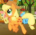 Applejack huge eye S2E15
