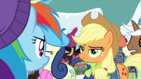 Applejack smirking at Rainbow Dash BGES1