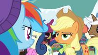 Applejack smirking at Rainbow Dash BGES1