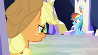Applejack snaps at Rainbow Dash S6E25